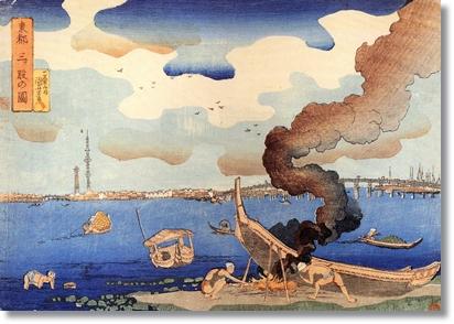 Kuniyoshi_Utagawa,_Caulking_boats