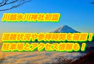 川越氷川神社の初詣2022年の混雑状況や参拝時間|駐車場とアクセス情報も