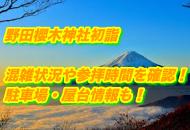 野田櫻木神社の初詣2022年の混雑状況や参拝時間|駐車場・屋台情報も